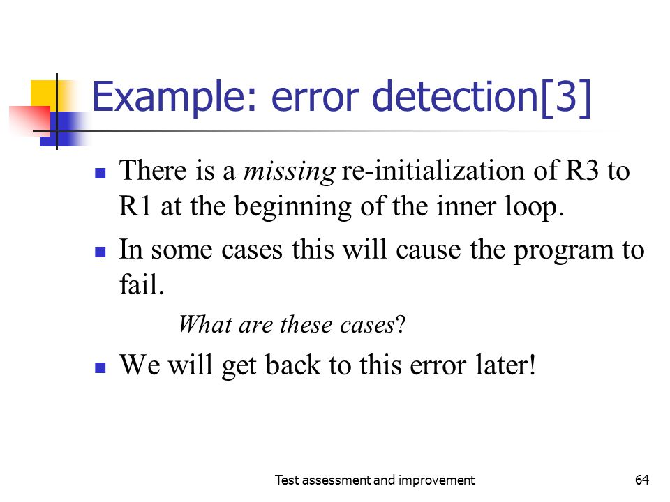 Example: error detection[3]